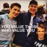 you value those who value you